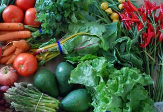 Fruits et légumes asiatiques aux pesticides