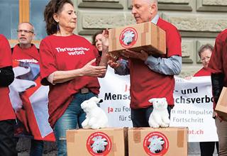 Initiative populaire – Oui à l'interdiction de l'expérimentation animale et humaine